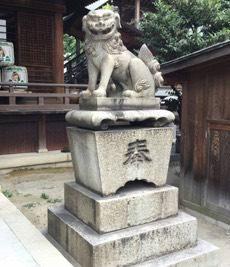 神社 狛犬洗浄工事