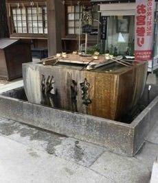 神社 手水舎洗浄工事