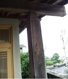玄関柱 洗浄工事