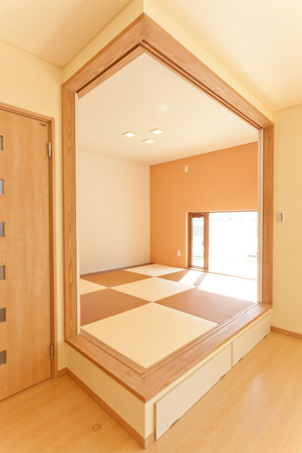 washithu(和室)  小上がりの和室は琉球畳でオシャレに仕上がりました