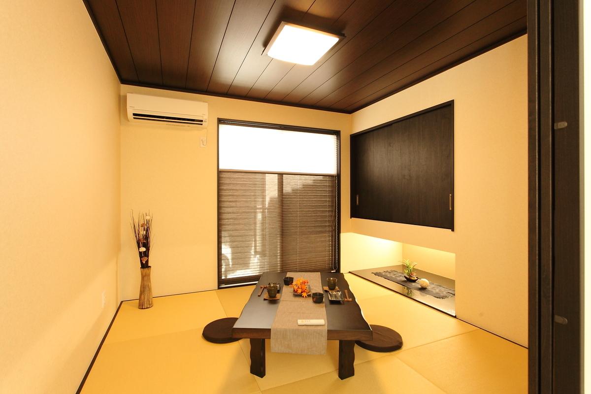 japanees room(和室) 小上がり和室は、すっきりとシンプルにまとめました