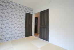 tatami bedroom (親寝室) 畳の部屋でありながら、明るくお洒落な雰囲気の和室となっています。