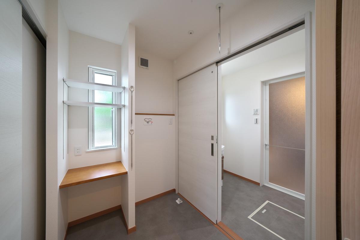 お風呂~洗面脱衣~洗濯の家事が最短距離で。家事負担を軽減。