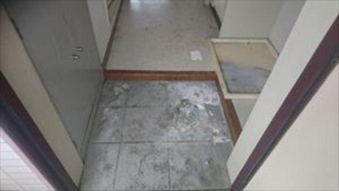 玄関土間のお掃除【京田辺市】 作業前