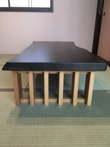 セン一枚板座卓