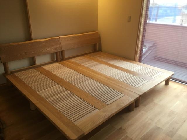 大阪狭山市F様邸 手創りベッド(販売店:奈良本店)