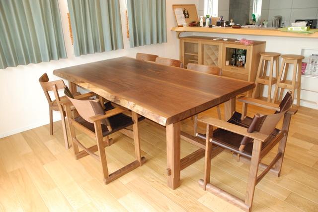 ウォールナット無垢テーブル