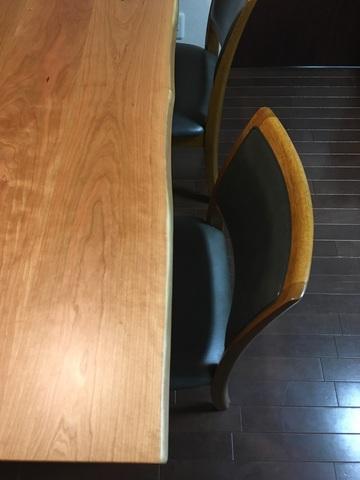 神戸市W様邸 森の陽だまり(Bチェリー材)ダイニングテーブル(販売店:HDC神戸店)