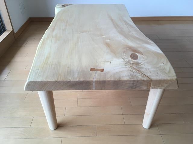 芦屋市I様邸 トチ一枚板テーブル(販売店:HDC神戸店)