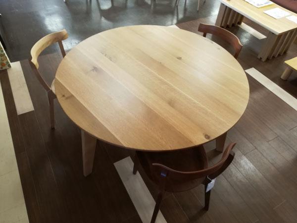 丸テーブル ラウンドテーブル 円卓 無垢材1350mm 3本脚