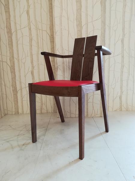 LOG(ログ)ウォールナットアームチェア 椅子ワークス