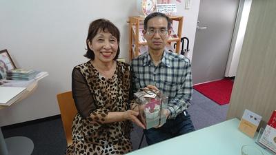 先日報告させて頂いた71歳女性と男性57歳のカップルです!!