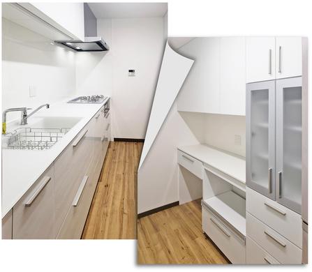 機能的で清潔感あふれるキッチンへ施工後
