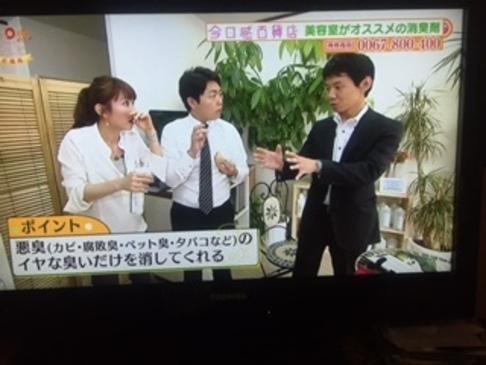 TBS系列・RKB毎日放送の人気番組 「今日感テレビ」でフィトンチッド商品が 紹介されました!2