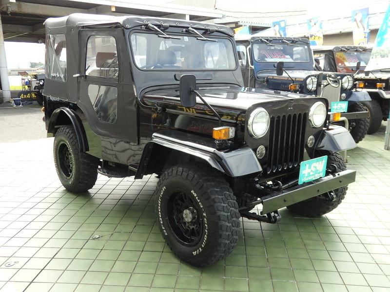 H4 三菱ジープJー53黒