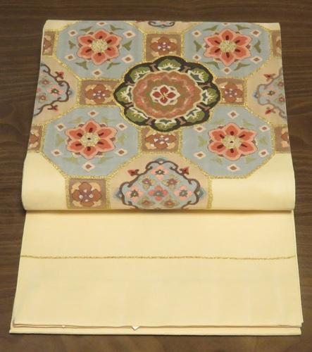 民綴れ袋帯(タイコ柄)0