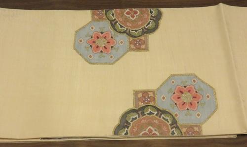 民綴れ袋帯(タイコ柄)1