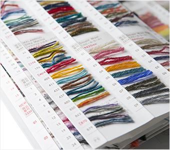 毛糸の見本帳2