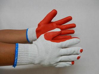 ゴム張り手袋1